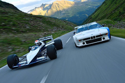Nelson Piquet Jr. drives in his father's Brabham BMW F1