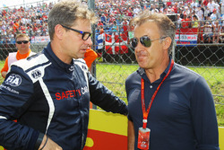 Bernd Maylander, FIA Safety Car Driver with Jean Alesi, on the grid
