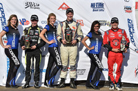 USF2000 Photos - Podium: race winner Anthony Martin, second place Parker Thompson, third place Victor Franzoni