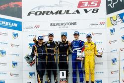 Podium: winner Roy Nissany, second place Rene Binder, third place Egor Orudzhev, best Rookie Louis Deletraz