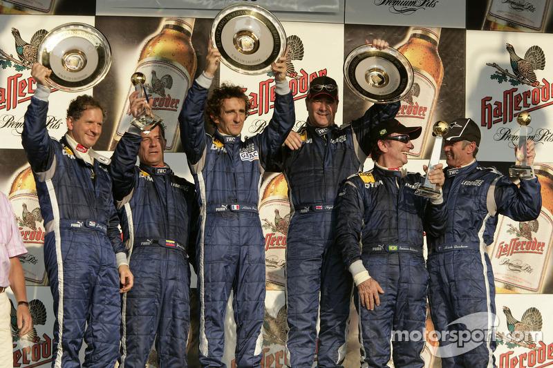 Prost wins Legends charity race