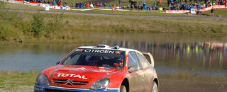 Loeb on way to his first Welsh win