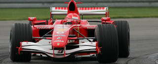 Schumacher leads Ferrari front row for US GP