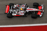 Hamilton top in mixed conditions at Sepang