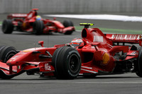 Ferrari takes over in British GP second practice