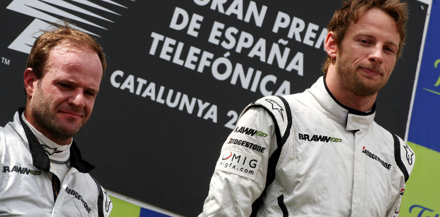 Button locks up Spain, maybe the world