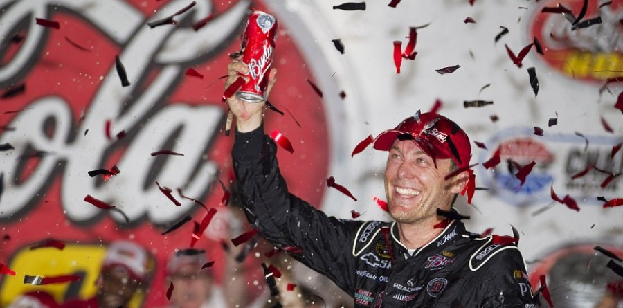 Harvick Hangs On To Take Charlotte Win   