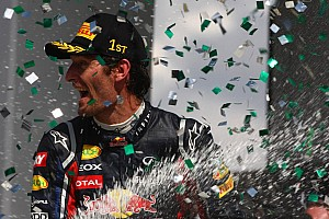 Season finale win good news for Webber - Horner