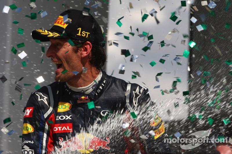 Season finale win good news for Webber - Horner
