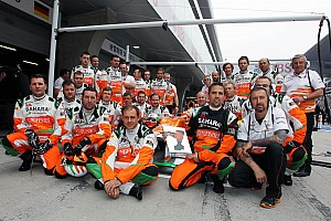 Formula 1 Force India team member leaving Bahrain after attack