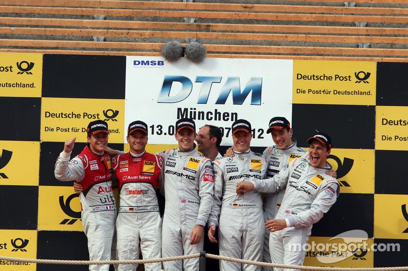 Schumacher and Green hand HWA Mercedes the team cup in Munich