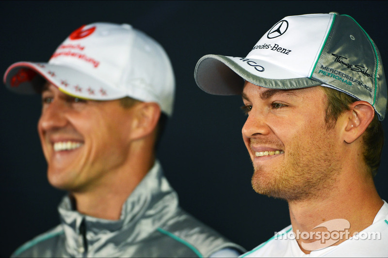 Schumacher not 'the reference' at Mercedes - Vettel