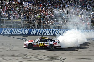 NASCAR Sprint Cup Race report Biffle romps when Johnson falters at Michigan