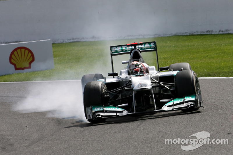 Schumacher enjoyed his 300th race and Rosberg has disappointing weekend at Spa