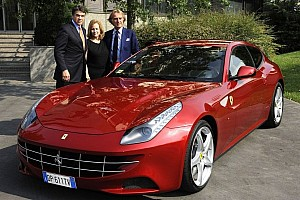 Governor Perry of Texas meets Ferrari Chairman Montezemolo