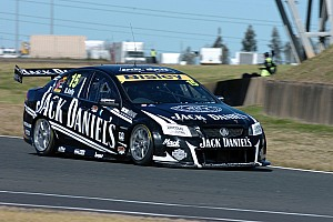 V8 Supercars Practice report Jack Daniel's Racing battle damp track at Sandown practice