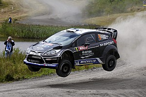 WRC Leg report M-Sport Ford teams challenge factory teams second day in Wales