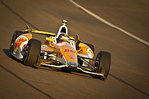 IndyCar Race report Hunter-Reay wins Championship in Fontana with a Chevrolet V6 engine