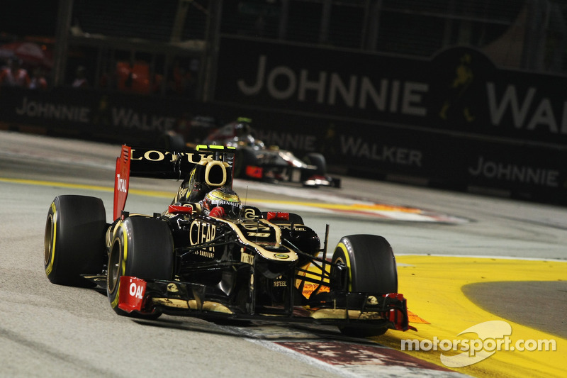 Lotus F1 Team use technology to improve on the track