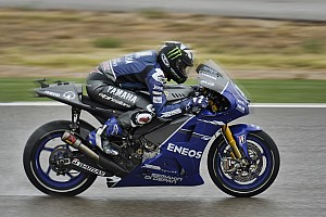 MotoGP Practice report Yamaha's Spies fastest in wet Aragon practice