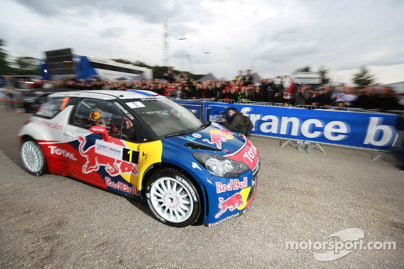 Loeb holds lead in Rallye de France with title in sight