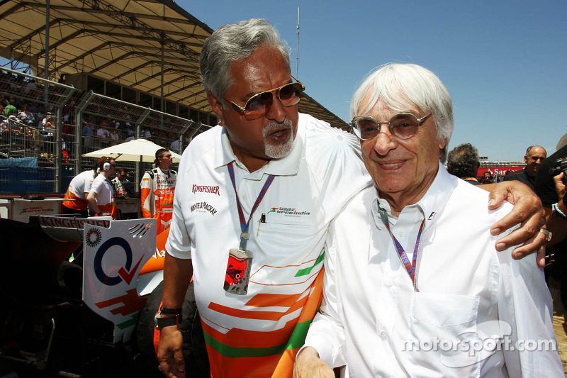 Force India plays down boss Mallya's problems