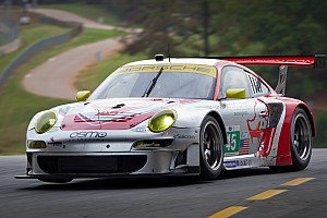ALMS Race report Flying Lizard fifth and seventh in GT at Petit Le Mans