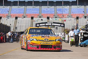 NASCAR Sprint Cup Qualifying report Kyle Busch fastest Toyota driver starts third in Texas 500