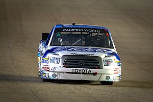 NASCAR Truck Race report Quiroga's engine expires near halfway mark of Texas 350