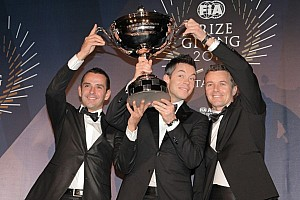 WEC Special feature Audi and champion drivers Fässler, Lotterer, Tréluyer celebrate 2012 awards
