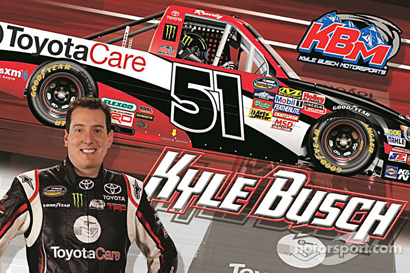 Kyle busch looking to take 'care' of Toyota's 100th Truck Series victory