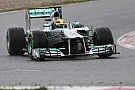 Mercedes Hamilton was 2nd fastest for first day of final testing in Barcelaona