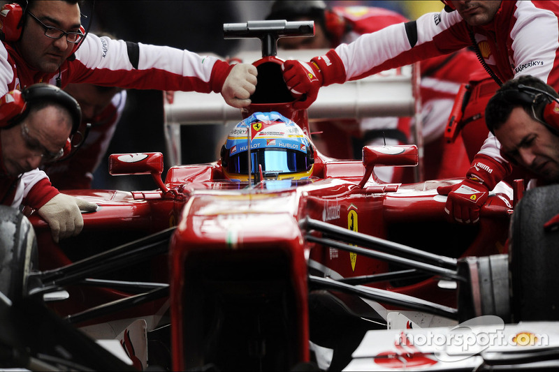 Second day of testing in Barcelona for Ferrari