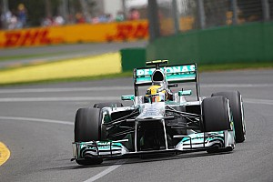 Hamilton and Rosberg qualified 3rd and 6th for Australian GP