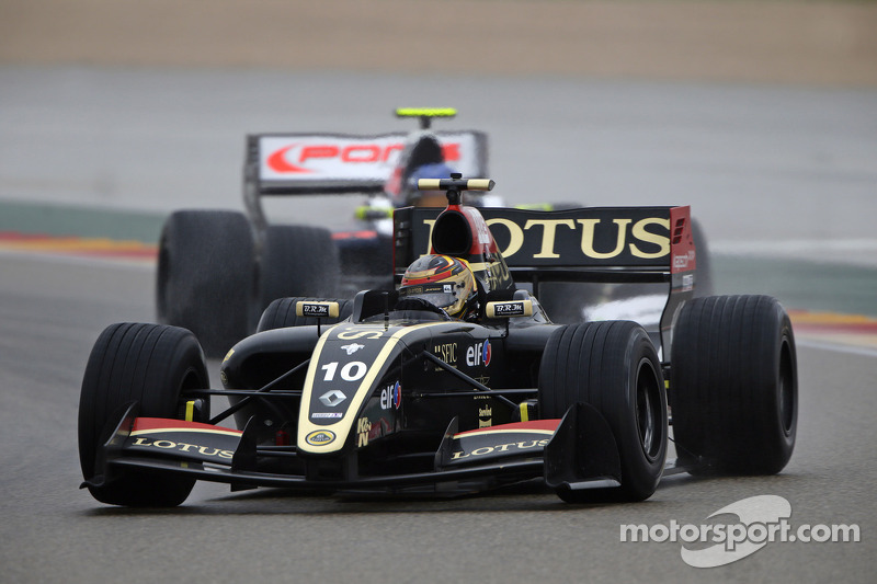 Lotus collected this year's first points in the opening race at Motorland Aragon