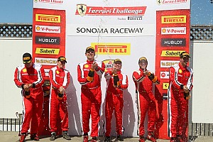 Ferrari Race report Farano and Lawrence shine on Race 1 at Sonoma