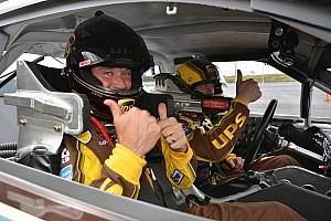 NASCAR Sprint Cup Special feature Edwards introduces golf ace Westwood to NASCAR