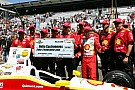 Castroneves and Penske crew celebrate Pit Stop Challenge win