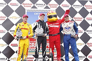Ryan Hunter-Reay finishes second in Detroit race one
