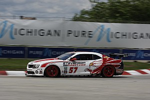 Grand-Am Race report Edwards and Stevenson score third consecutive win at Detroit