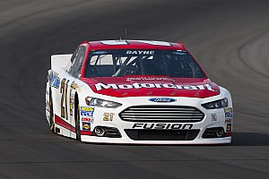 NASCAR Sprint Cup Race report Wood Brothers' Bayne survives Michigan, celebrates with Ford