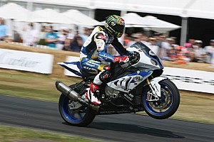 World Superbike Breaking news Chaz Davies rides the BMW HP4 at Goodwood