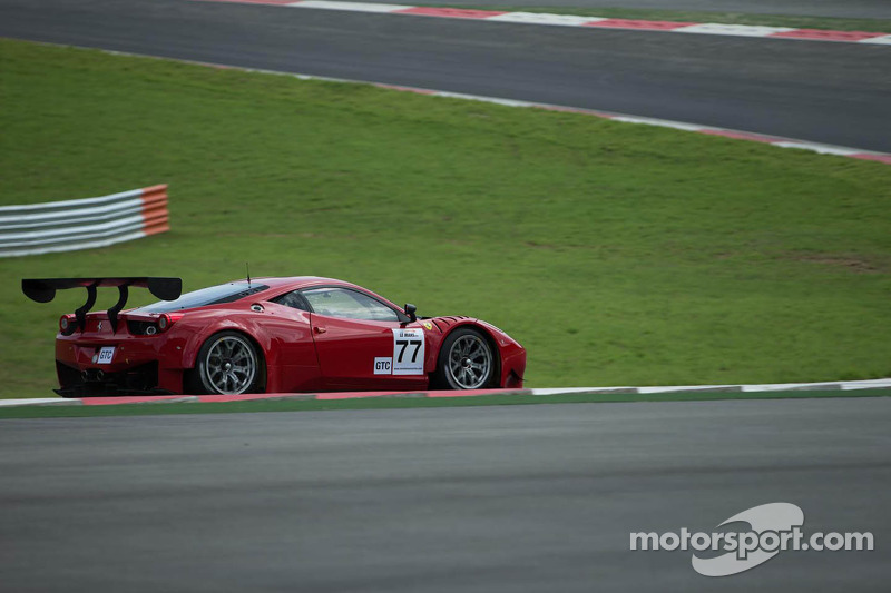 AF Corse Ferrari team celebrates win in debut race at Inje