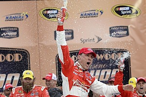 NASCAR Sprint Cup Race report Harvick wins caution-filled race at Kansas