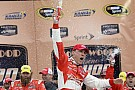 Harvick wins caution-filled race at Kansas