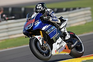 MotoGP Qualifying report Yamaha's Lorenzo blazes to Valencia front row