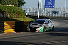 Tiago Monteiro on the podium in final at Macau
