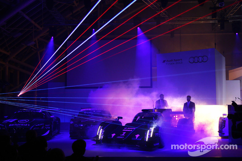Audi R18 e-tron quattro with laser light