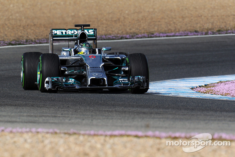 Mercedes concluded the opening pre-season test at Jerez with good mileage