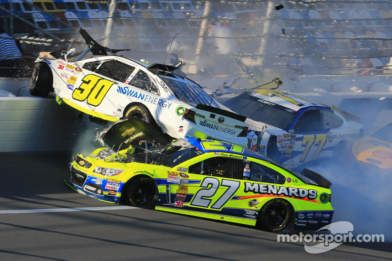 Team Chevy drivers involved in multi-car practice crash at Daytona